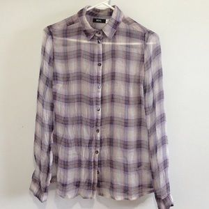 NWOT Purple Plaid BDG Button Down Shirt